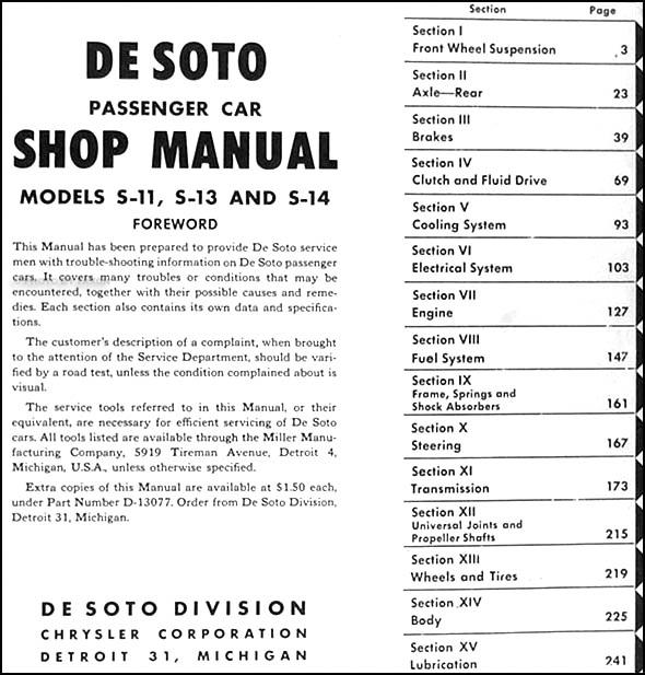 Charging Circuit Diagram For The 1950 De Soto All Models