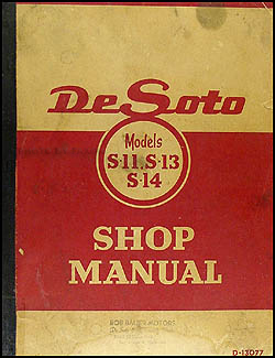 1946-1950 De Soto Shop Manual Original