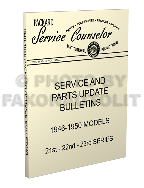 19461950 Packard Service Bulletins Parts Updates Reprintrhfaxonautoliterature: Wiring Diagram Further 1950 Packard As Well At Gmaili.net
