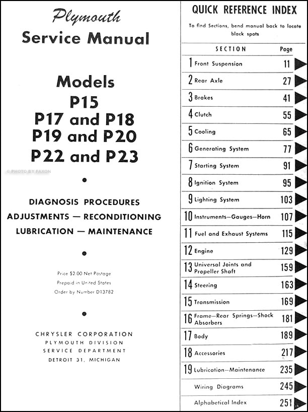 1951 Plymouth Suburban Wiring Diagram Schematic Diagrams Positive Ground Wiringdiagram: 1948 Plymouth Wiring Diagram At Anocheocurrio.co