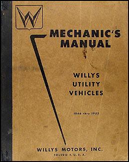 1946-1953 Willys Repair Manual Original - Jeepster, CJ, Truck, Wagon