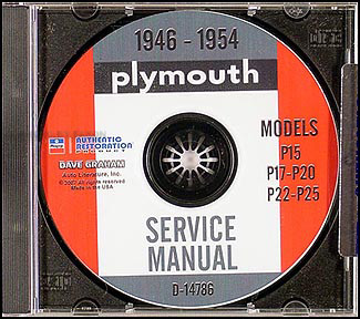 1946-1954 Plymouth Shop Manual on CD-ROM