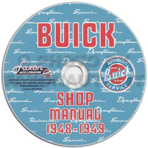 1949 Buick Super Custom Review: 1948 1949 Buick Shop Manual CD Roadmaster Special Super