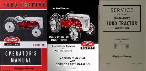 ford 8n tractor 3 manual set owner s repair assembly reprint rh faxonautoliterature com 8n tractor manual pdf 8n tractor repair manual download