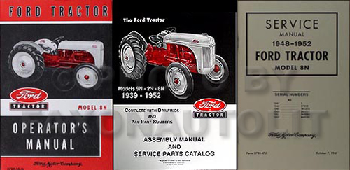 ford  tractor  manual set owners repair assembly books