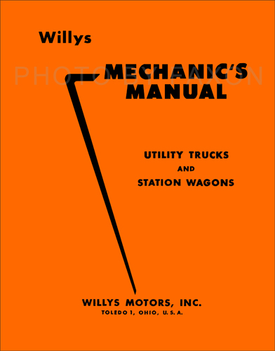 1948 1956 willys truck station wagon repair shop manual reprint rh faxonautoliterature com