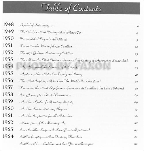 1948-1964 Cadillac The Tailfin Years