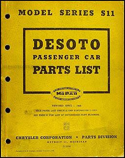 1946-1948 De Soto Parts Book Original S11 DeSoto
