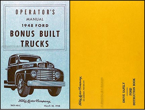 ford truck owners manual reprint