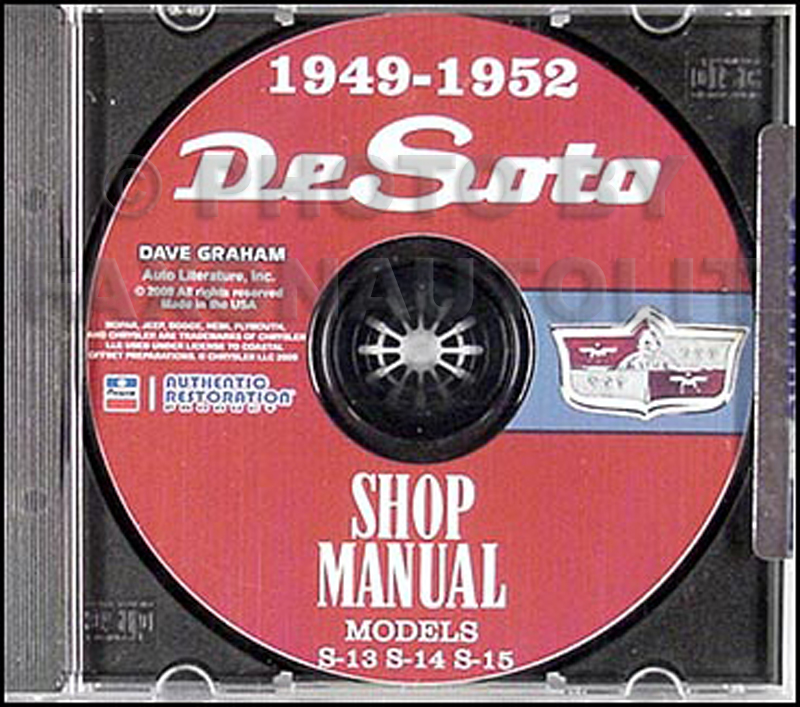 1949-1952 DeSoto De Soto Repair Shop Manual on CD