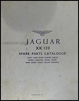 jaguar xk and mark vii repair shop manual original 1949 1954 jaguar xk120 parts book original 195 00