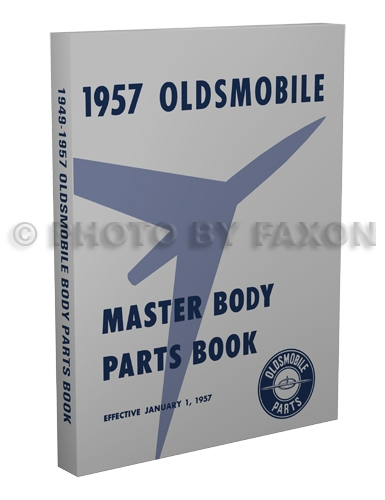 1949-1957 Oldsmobile Body Parts Book Reprint