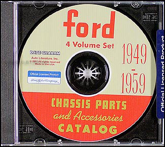1949-1959 Ford Parts Book on CD-ROM