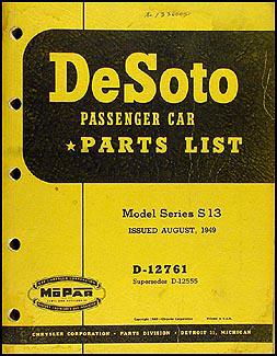 1949 DeSoto Parts Book Original