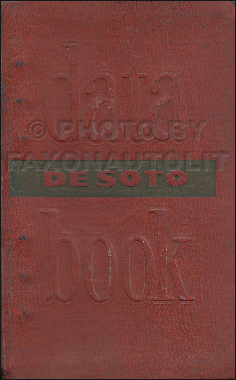 1949 Desoto Data Book Original