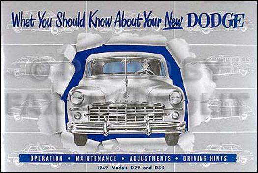 1949 1950 dodge car repair shop manual original related products publicscrutiny Gallery