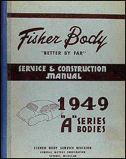 1949 Oldsmobile 76 and 88 Body Manual Original