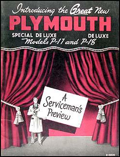 1949 plymouth repair shop manual original rh faxonautoliterature com 1953 Plymouth 1952 Plymouth