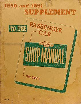 1949 1954 chevrolet car wiring diagram manual reprint 1951 chevrolet repair shop manual original supplement