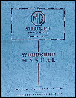 Mg td tf midget repair manual 1950 1951 1952 1953 1954 for Table th td tf
