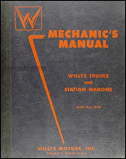 1950-1955 Willys Truck & Station Wagon Repair Manual Original