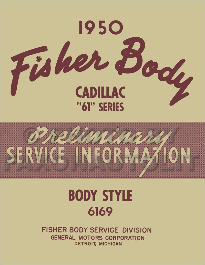 1950 Cadillac Series 61 Sedan Body Repair Shop Manual Reprint Wiring Diagram 1941 Original Supplement All Models