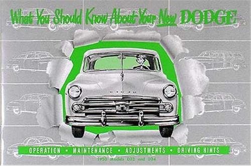 1949 1952 dodge car repair shop manual reprint 1950 dodge car owners manual reprint publicscrutiny Gallery