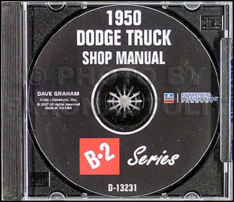 1950 Dodge Truck Cd Shop Manual B 2 Series Pickup Panel