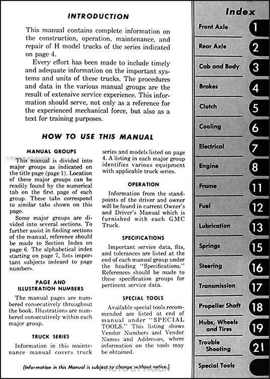 1950 1951 gmc 400 470 repair shop manual original. Black Bedroom Furniture Sets. Home Design Ideas