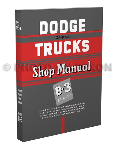 1951 1952 1953 dodge pickup truck cd rom repair shop manual related items