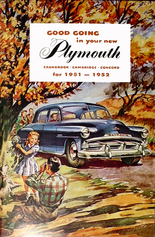 1951-1952 Plymouth Reprint Owner's Manual