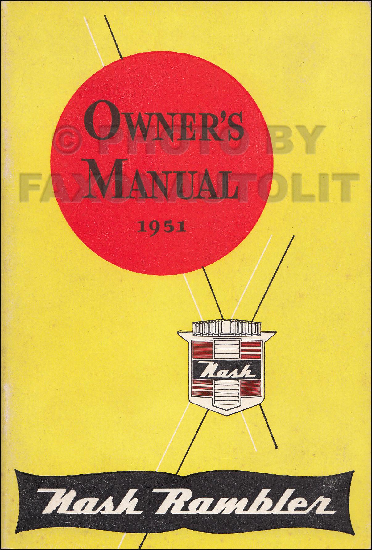 1951 Nash Rambler Country Club Repair Shop Manual Original