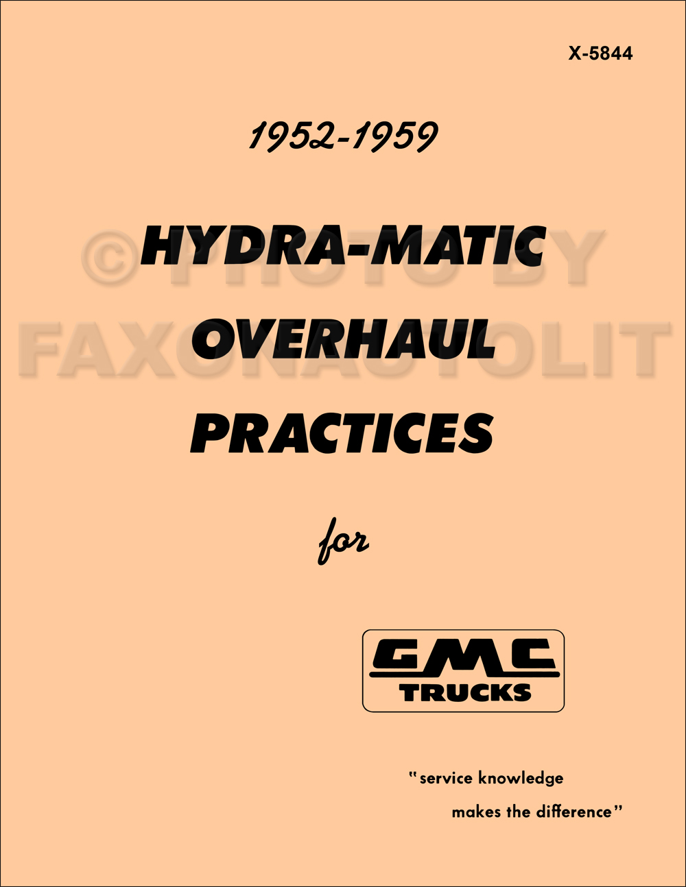 1952 Parts 1988 Ford F150 49li Need Simple Wiring Diagramstarter 1959 Gmc Truck Hydra Matic Transmission Overhaul Manual Catalog Reprint
