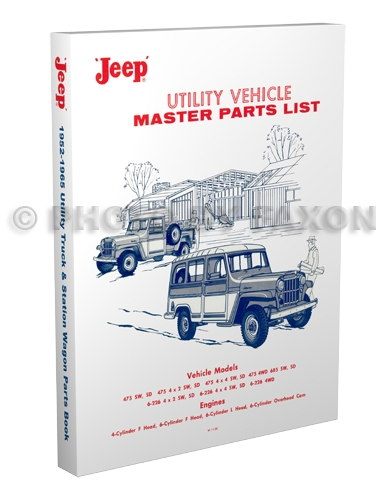 1952-1965 Jeep Utility Pickup and Station Wagon Parts Book Reprint