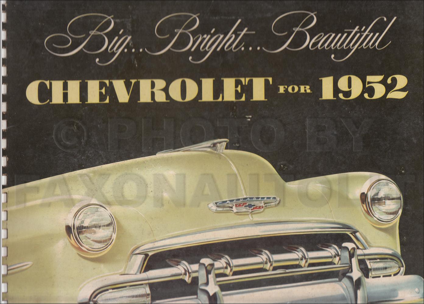 1952 Chevrolet Car Color And Upholstery Dealer Album Original 1954 Truck Paint Colors