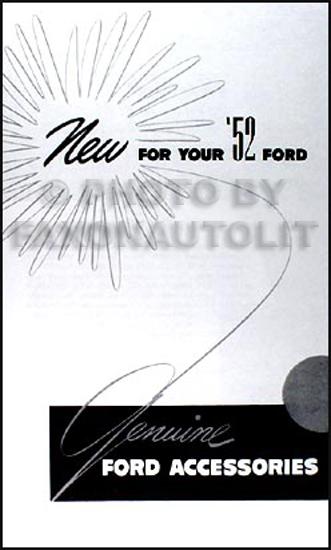 1952 1954 ford car wiring diagram manual reprint related items