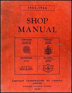 CANADIAN Plymouth Dodge Chrysler DeSoto Repair Shop - Chrysler shop