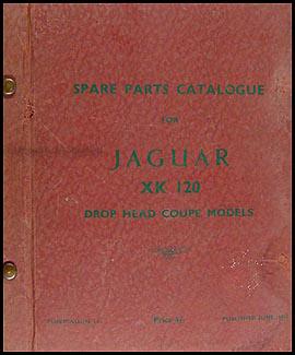 jaguar xk and mark vii repair shop manual original 1953 1954 jaguar xk120 convertible parts book original supplement