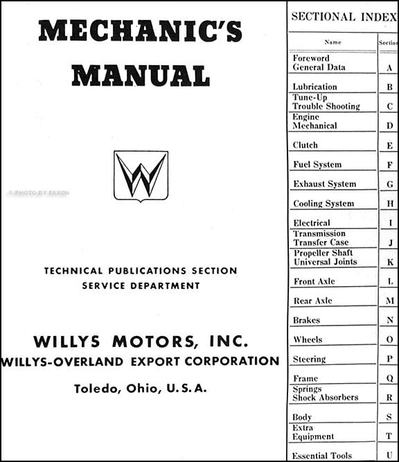 1953 1954 willys jeep cj 3b repair shop manual original. Black Bedroom Furniture Sets. Home Design Ideas