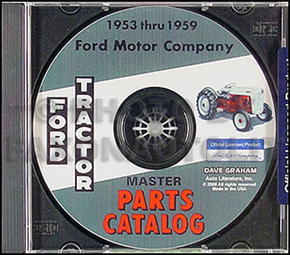Ford Tractor Parts Book Cd 1953 1954 1955 1956