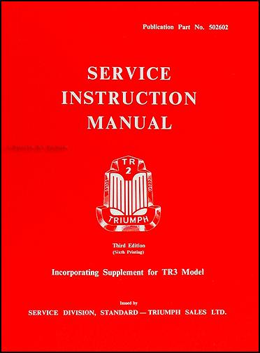 1954 1961 triumph tr2 tr3 tr3a repair shop manual reprint rh faxonautoliterature com
