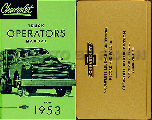 chevy truck wiring diagram manual 1947-1954 chevrolet pickup truck assembly manual reprint
