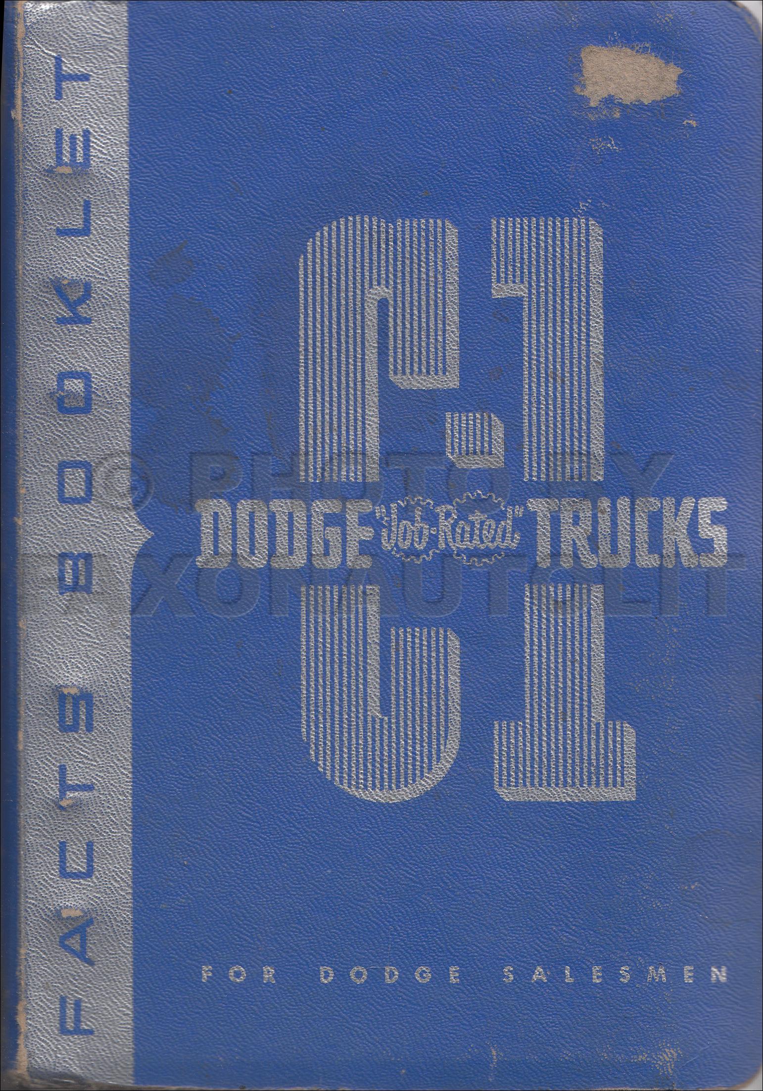 1954-1955 Dodge C-1 Truck Data Book Original