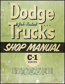 1954-1955 Dodge C-1 Truck Shop Manual Original