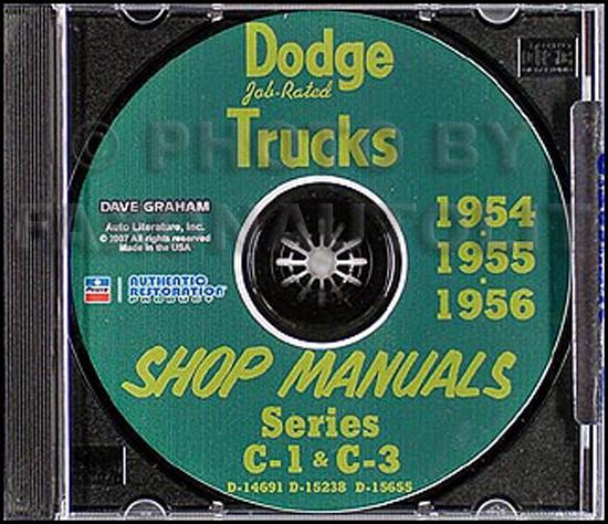 1954-1956 Dodge Pickup & Truck CD-ROM Shop Manual