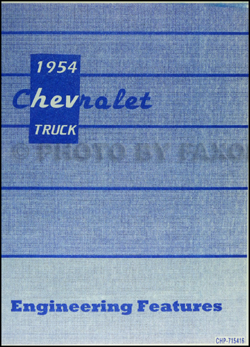 1954 1955 1st series chevrolet truck wiring diagram manual reprint 62 1962 chevy truck wiring diagram manual