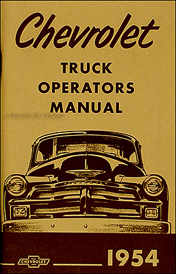 1954 chevrolet truck wiring diagram 1954 & 1955 1st series chevrolet truck wiring diagram ... 1954 1955 1st series chevrolet truck wiring diagram manual reprint