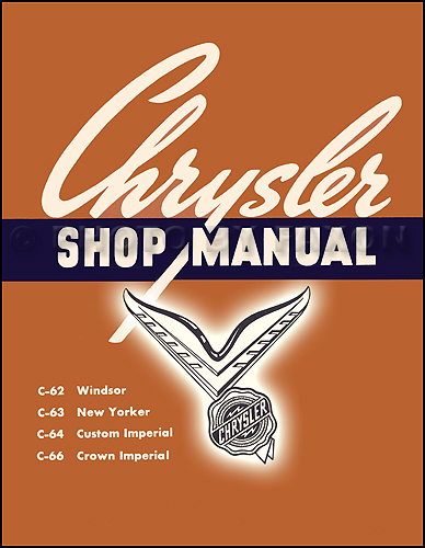 1954 Chrysler Shop Manual Windsor New Yorker Imperial