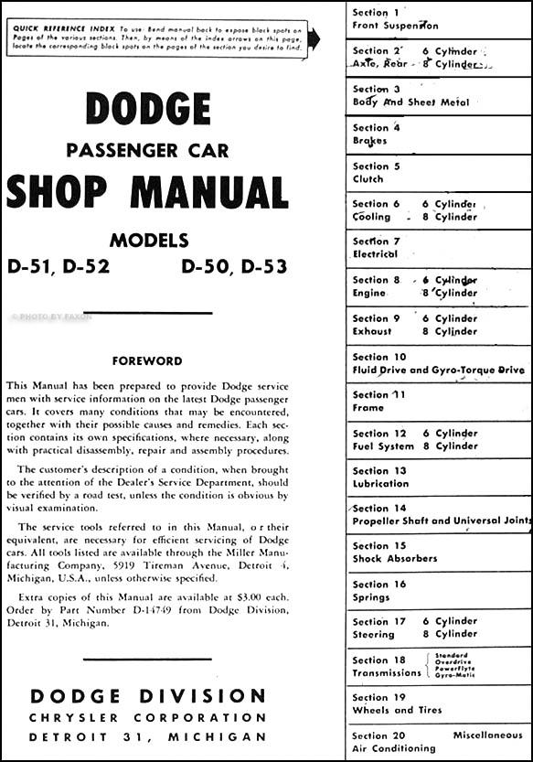 1950 Dodge Wiring Diagram