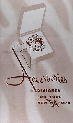 1954 Ford Car Accessories Catalog Reprint with illustrations & Search markmcfarlin.com
